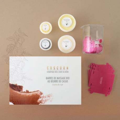Coscoon - Box diy massage bars organic: with coffee beans